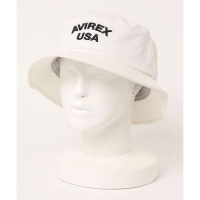 帽子 キャップ AVIREX KING USA 3D EMB BUCKET HAT