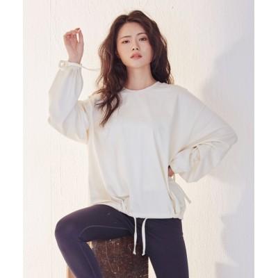 【ローラ】 Lady Rora 裾絞り スウェットT 2color レディース ベージュ フリーサイズ Rora