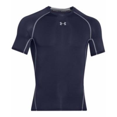 アンダーアーマー メンズ Tシャツ トップス Men's HeatGear® Armour Short Sleeve Compression Shirt Midnight Navy/steel