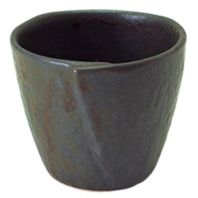 フリーカップ 和食器 / (強)NRブラック 戸締カップ(小) 寸法: Φ8.5 x H7cm 180g
