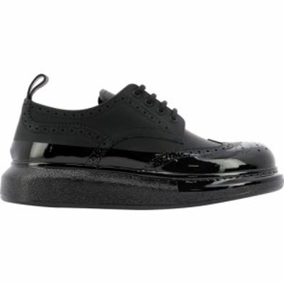 アレキサンダー マックイーン Alexander McQueen メンズ 革靴・ビジネスシューズ レースアップ シューズ・靴 Hybrid Lace-Up Shoes Black
