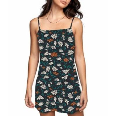 ルーカ レディース ワンピース トップス Knight Sleeveless Floral-Printed Camisole Dress Black
