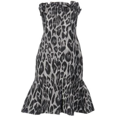 ランバン LANVIN ミニワンピース&ドレス グレー 36 ポリエステル 100% ミニワンピース&ドレス