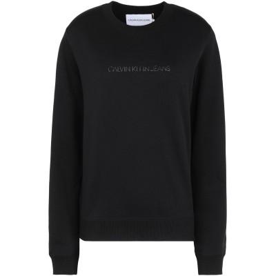 YOOX - CALVIN KLEIN JEANS スウェットシャツ ブラック XS コットン BCI 100% スウェットシャツ