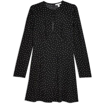 トップショップ TOPSHOP ミニワンピース&ドレス ブラック 4 ポリエステル 100% ミニワンピース&ドレス