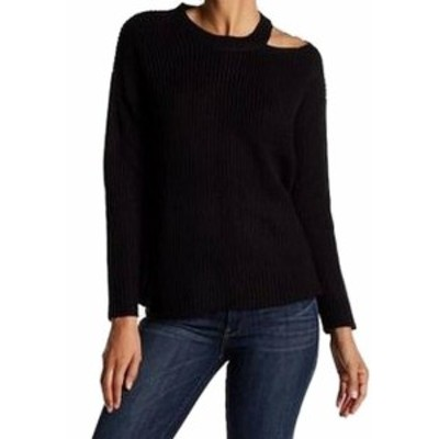ファッション トップス RDI NEW Black Womens Size Large L Ribbed Knit Cutout Pullover Sweater