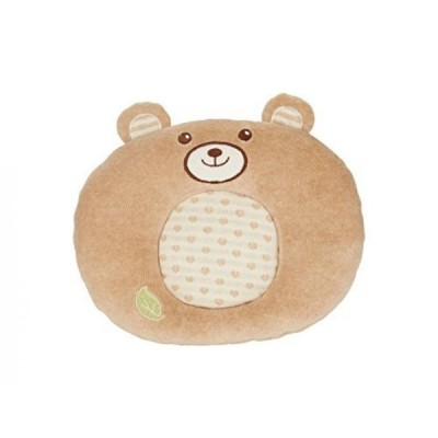 幼児用おもちゃ EverEarth Organic Soft Toy Round Plush Bear Cushion Pillow Infant Toy EE33686 by EverEarth