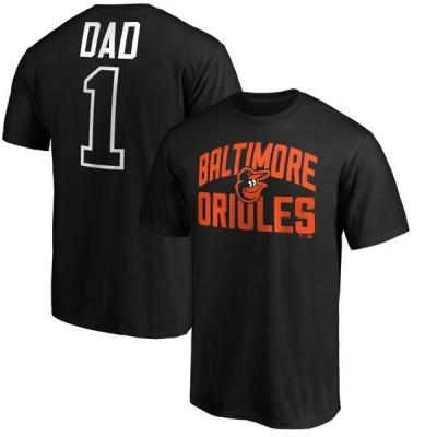 ユニセックス スポーツリーグ メジャーリーグ Baltimore Orioles Fanatics Branded Father's Day Big & Tall #1 Dad T-Shirt - Black