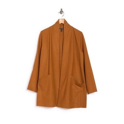 エイリーンフィッシャー レディース ジャケット&ブルゾン アウター Shawl Collar Open Front Wool Jacket CARML
