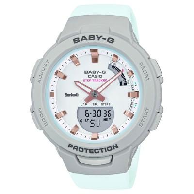 【BABY-G】G-SQUAD(ジー・スクワッド) / スマートフォンリンク / BSA-B100MC-8AJF / ベビーG (グレー×ライトブルー)