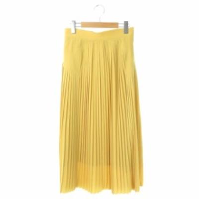 【中古】コンバース CONVERSE トウキョウ TOKYO プリーツロングスカート 3 黄 イエロー /DF ■OS レディース