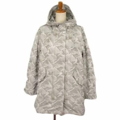 【中古】未使用品 アルバッシュ albachez モッズコート ジャケット 迷彩 カモフラ 40 グレー レディース