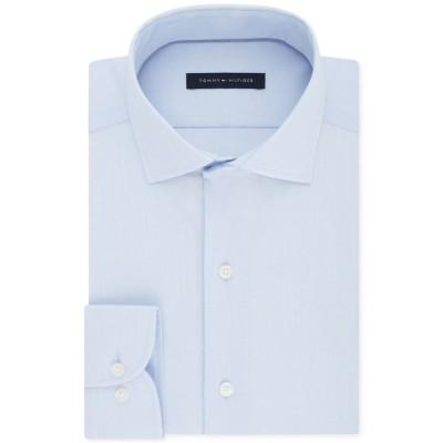 トミー ヒルフィガー シャツ トップス メンズ Men's Big & Tall Classic/Regular Fit Non-Iron Stretch Dress Shirt Soft Blue