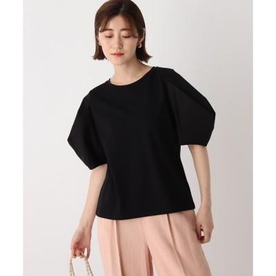 tシャツ Tシャツ 異素材ドッキングタックデザイントップス【WEB限定サイズ】