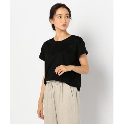 【フレディアンドグロスター】 袖ロールアップTシャツ レディース ブラック 38 FREDY&GLOSTER