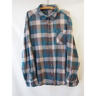 an05869/送料無料/identic/コットンフランネルチェックシャツ/XXL