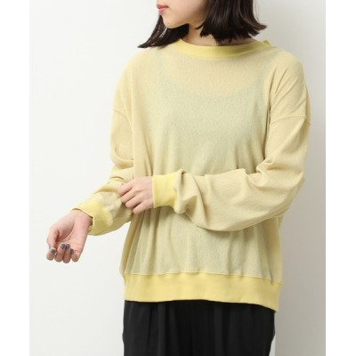 tシャツ Tシャツ シアーニットプルオーバー