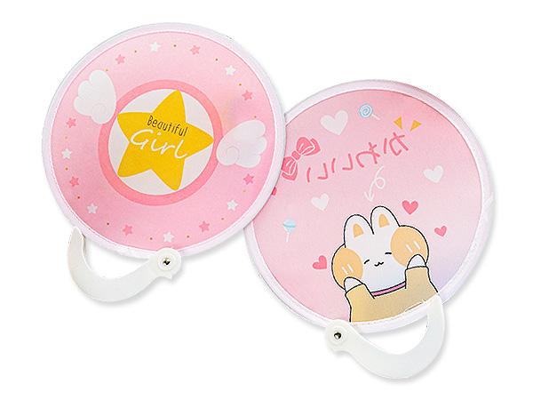 可愛卡通布面mini摺疊扇(1入) 款式隨機出貨【D021786】