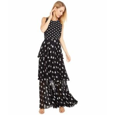 ミリー レディース ワンピース トップス Emiliana Pleat Polka Dot Maxi Dress Black/White