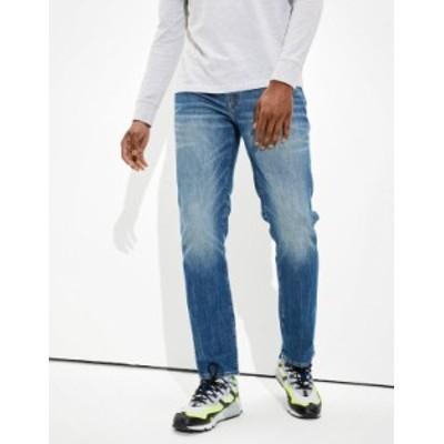 アメリカンイーグル メンズ デニムパンツ ボトムス AE AirFlex+ Temp Tech Slim Straight Jean Medium Indigo