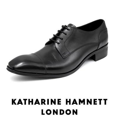 キャサリンハムネット メンズ ビジネスシューズ KATHARINE HAMNETT 3987 ブラック ストレートチップ 外羽根 靴 成人式 就活 父の日 プレゼント