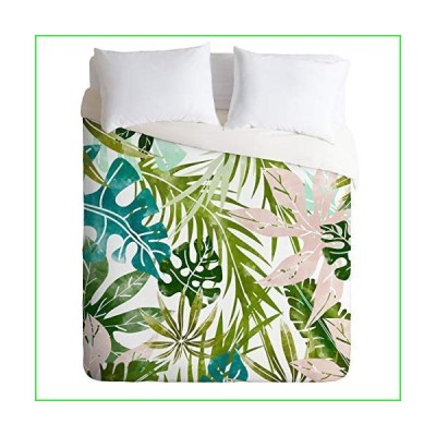 Society6 83 Oranges Veronica Summer Comforter Set with Pillowcase(s), King, Green