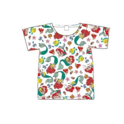 スモAWDS7185【ディズニープリンセス】Tシャツ【L】【パターン】【アリエルとフレンズ】【アリエル】【リトルマーメイド】【姫】【プリンセス】【ディズニー】…