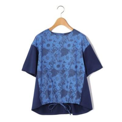 KORET/コレット リバティプリント丸首ブラウス ブルー 9