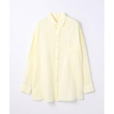 【トゥモローランド】 リネン オーバーサイズドシャツ レディース 22イエロー系 36(9号) TOMORROWLAND