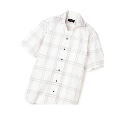【メンズビギ】 ジャガード花柄半袖シャツ メンズ チェック 1 Men's Bigi