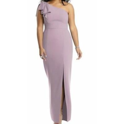 after アフター ファッション ドレス After Six NEW Purple Womens Size 10 Ruffle Trim Slit Sheath Dress