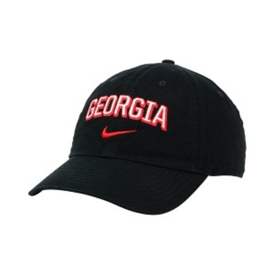 ナイキ メンズ 帽子 アクセサリー Georgia Bulldogs H86 Wordmark Swoosh Cap Black