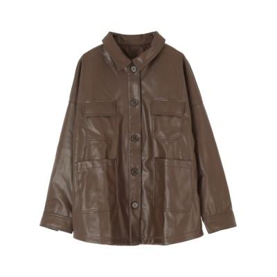 titivate / エコレザーオーバーサイズジャケット WOMEN トップス > シャツ/ブラウス