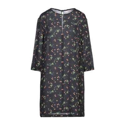クリスティーナティ KRISTINA TI ミニワンピース&ドレス ブラック 40 レーヨン 100% ミニワンピース&ドレス