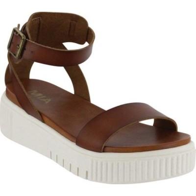 ミア Mia レディース サンダル・ミュール シューズ・靴 Lunna Athletic Sandal Cognac Vegan Leather