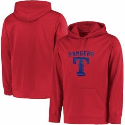 Majestic マジェスティック スポーツ用品  Majestic Texas Rangers Red Big & Tall Distressed Hoodie