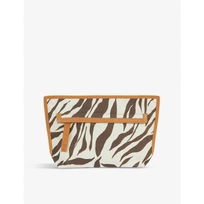 ジマーマン ZIMMERMANN レディース ショルダーバッグ バッグ Snakeskin-printed canvas pouch Zebra