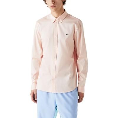 ラコステ LACOSTE メンズ シャツ トップス Regular Fit Solid Button-Down Shirt Lantern Orange