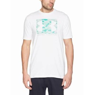 Under Armour アンダー アーマー ファッション トップス Under Armour Mens Tee Shirt White Green Size 2XL Logo Graphic Print #315