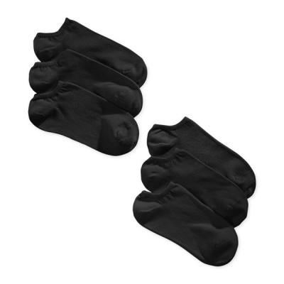 フエ Hue レディース ソックス インナー・下着 6-Pk. Cotton No Show Socks Black