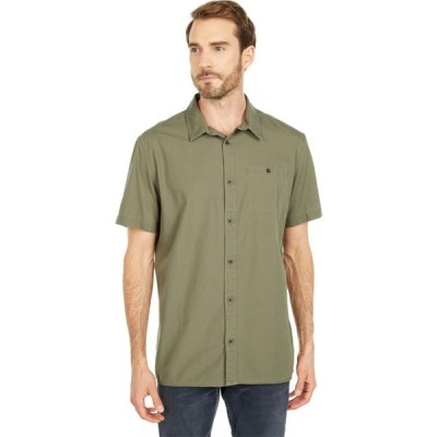 クイックシルバー Quiksilver メンズ 半袖シャツ トップス Taxer Wash Short Sleeve Shirt Kalamata