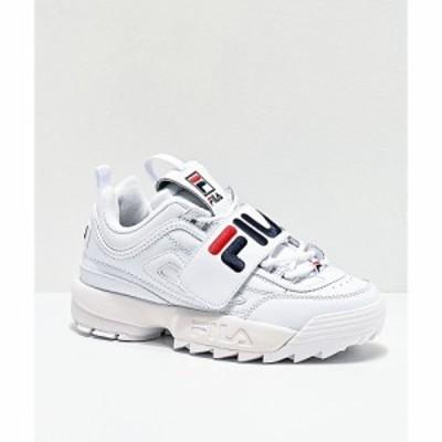 フィラ FILA レディース スニーカー シューズ・靴 disruptor ii strap white shoes White