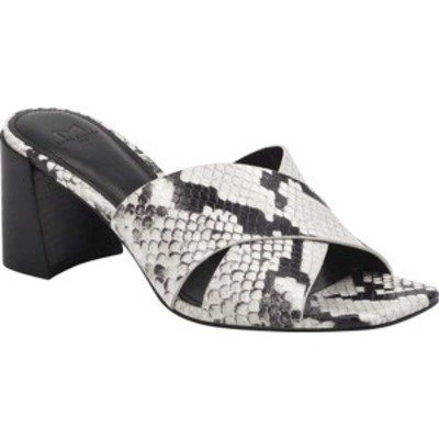 マークフィッシャー レディース サンダル シューズ Saydi Heeled Slide Sandal Grey Lux Paradise Snake Leather
