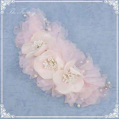ヘッドドレス 髪飾り 花かんむり 花嫁 ウエディング ヘッドドレス fhds018pk