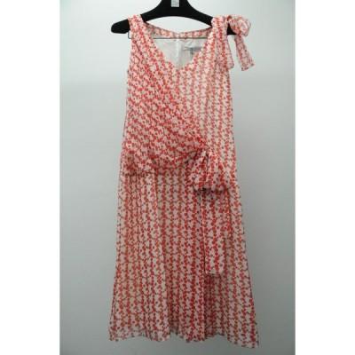 ワンピース キャロライナヘレラ  Carolina Herrera Sleeveless Silk Dress White Red Polka Dot Bow 2
