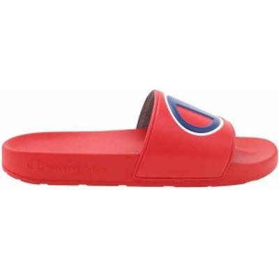 チャンピオン メンズ サンダル シューズ Champion Men's IPO Slides Red/Red