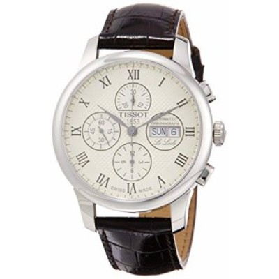 腕時計 ティソ メンズ Tissot Le Locle Valjoux Chronograph Automatic Silver Dial Men's Watch T006.414.1