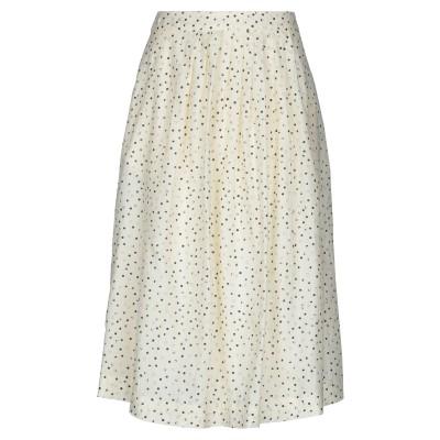 VANESSA SEWARD 7分丈スカート ライトイエロー 40 コットン 56% / シルク 44% 7分丈スカート