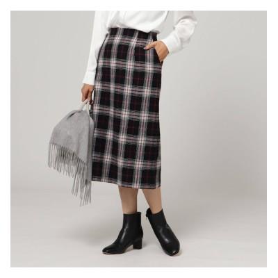 【アンタイトル/UNTITLED】 ヴィヴァーチェ タータンチェックナロースカート