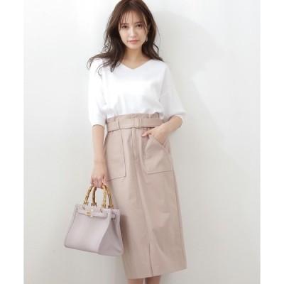 スカート 【ブルー:WEB限定カラー】ビックポケットタイトスカート